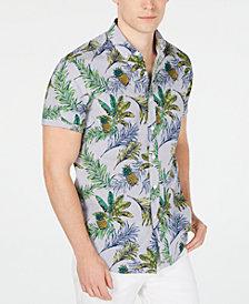 Club Room Men's Pineapple Printed Shirt, Created for Macy's