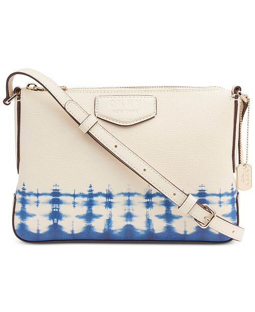 DKNY Sullivan Leather Tie-Dyed Crossbody, Created for Macy's