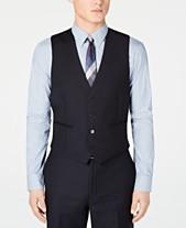 d1dcf8242c4113 Calvin Klein Men's Modern-Fit Midnight Blue Stripe Suit Vest