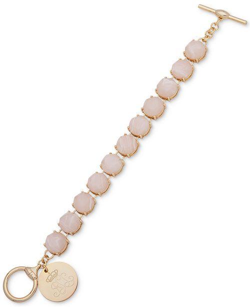 Lauren Ralph Lauren Gold-Tone Blush Stone Flex Bracelet