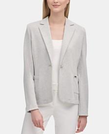 Calvin Klein One-Button Notched-Collar Jacket