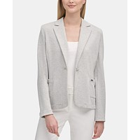Deals on Calvin Klein One-Button Notched-Collar Jacket