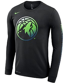 Nike Men's Minnesota Timberwolves Dry Mezzo Logo Long Sleeve T-Shirt