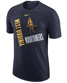 Nike Men's West Virginia Mountaineers Dri-Fit Cotton Just Do It T-Shirt