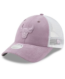 New Era Women's Chicago Bulls Suede Trucker 9FORTY Snapback Cap