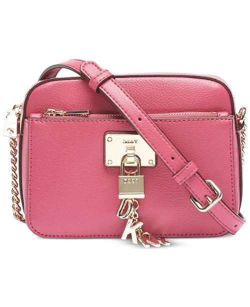 DKNY Elissa Pebble Leather Crossbody, Created for Macy's