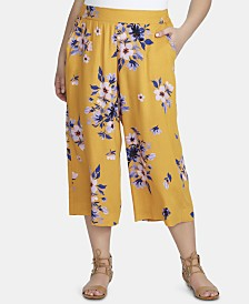 Jessica Simpson Trendy Plus Size Kora Cropped Palazzo Pants
