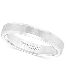 Men's White Tungsten Carbide Ring, Wedding Band (3mm)