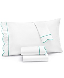 Signature Scallop 4-Pc. California King Sheet Set, 400 Thread Count 100% Cotton Percale, Created for Macy's