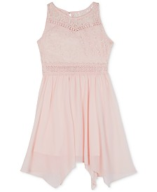 BCX Big Girls Lace Handkerchief Hem Dress