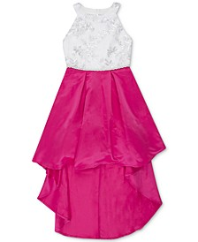 Big Girls Sequin Embroidered High-Low Hem Dress