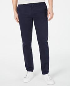 DKNY Men's Bedford Slim-Straight Fit Performance Stretch Sateen Pants