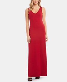 Karen Kane Sleeveless V-Neck Maxi Dress