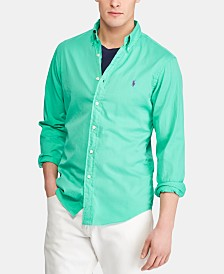 Polo Ralph Lauren Men's Slim Fit Garment-Dyed Twill Shirt