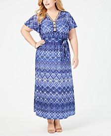 Plus Size Embellished Maxi Dress