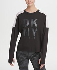 DKNY Sport Mesh-Panel Logo Sweatshirt