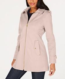 MICHAEL Michael Kors Petite Hooded Raincoat