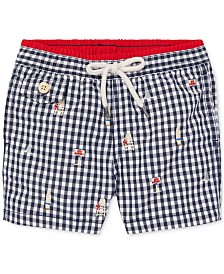 Polo Ralph Lauren Baby Boys Traveler Gingham Swim Trunks
