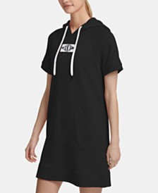 DKNY Sport Patch Logo Hoodie Dress