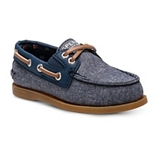 Toddler & Little Boys Authentic Original Slip On Chambray Boat Shoe