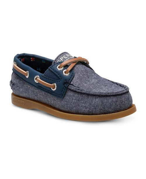 Sperry Toddler & Little Boys Authentic Original Slip On Chambray Boat Shoe
