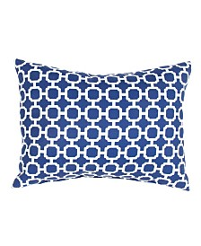 "Jaipur Living Hockley Blue/White Trellis Indoor/ Outdoor Throw Pillow 18"""