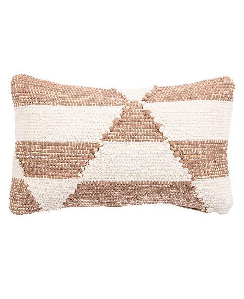 "Jaipur Living Nikki Chu By Otway Geometric Down Throw Pillow 16"" x 24"""