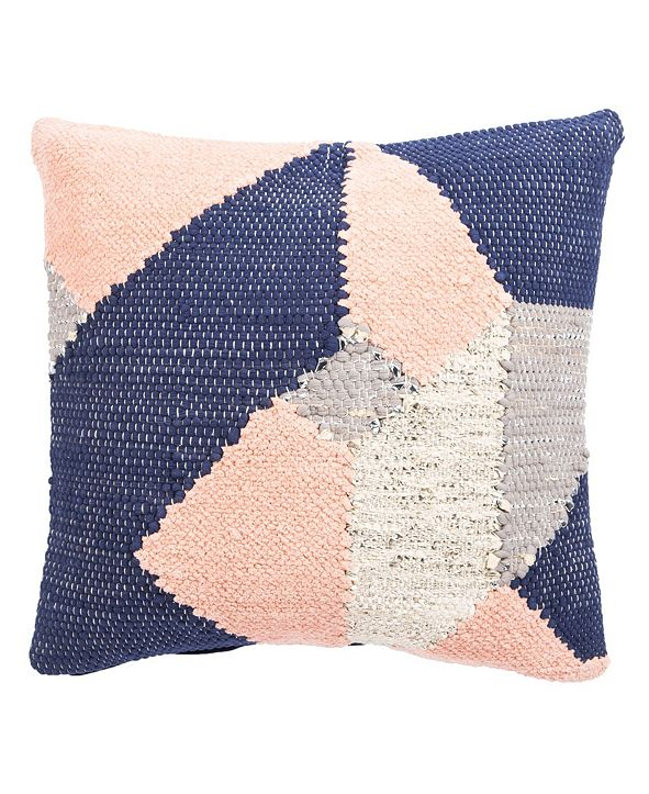 Jaipur Living Nikki Chu By Tanis Blue/Pink Geometric Poly Throw Pillow 22""