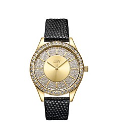 10 YR Anniversary Women's Mondrian Diamond (1/8 ct.t.w.) Leather Watch