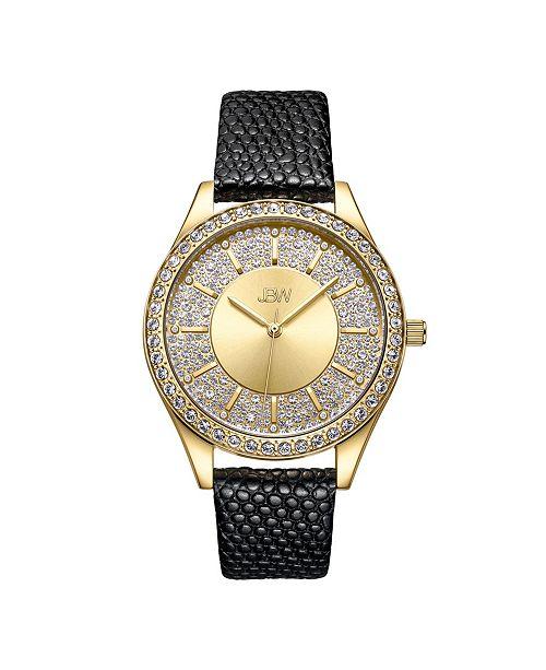 Jbw 10 YR Anniversary Women's Mondrian Diamond (1/8 ct.t.w.) Leather Watch