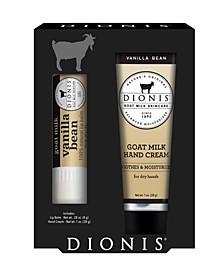 Vanilla Bean Hand Cream and Lip Balm Gift Set