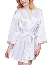 Satin Charmeuse Bride Wedding Day Robe