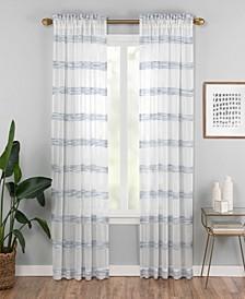 "Kyoto 52"" x 84"" Striped Semi-Sheer Curtain Panel"