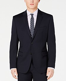 Men's Slim-Fit UltraFlex Stretch Navy Solid Suit Jacket