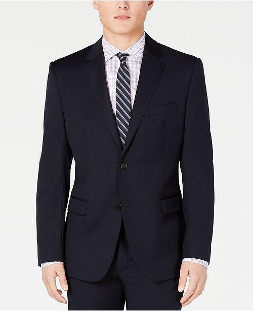 Lauren Ralph Lauren Men's Slim-Fit UltraFlex Stretch Navy Solid Suit Jacket