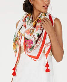 I.N.C. Garden Trellis Square Scarf, Created for Macy's