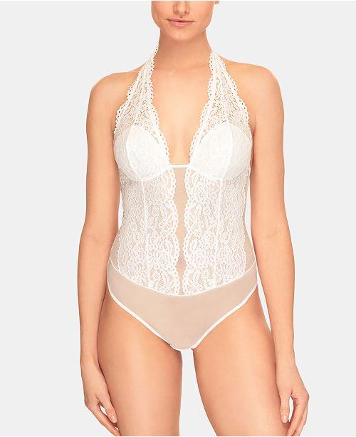 b.tempt'd Women's Ciao Bella Lace Halter Bodysuit 936144