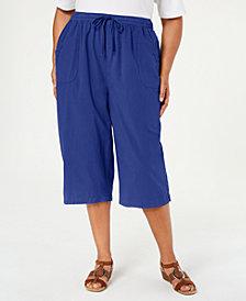 Karen Scott Plus Size Kiera Capri Pants, Created for Macy's