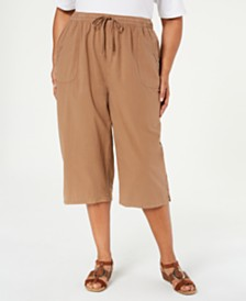 Karen Scott Plus Size Kiera Capri Pants, Created for Macy's