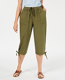 Petite Dahlia Cargo Capri Pants, Created for Macy's