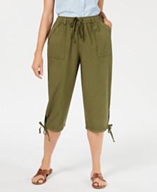 Karen Scott Petite Dahlia Cargo Capri Pants, Created for Macy's