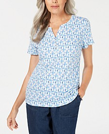 Mosaic Anchor Henley Top, Created for Macy's