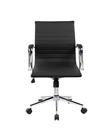 Techni Mobili Modern Executive Office Chair, Quick Ship