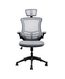 Techni Mobili Modern High-Back Mesh Executive Office Chair, Quick Ship