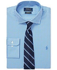 Men's Gingham Cotton Dress Shirt