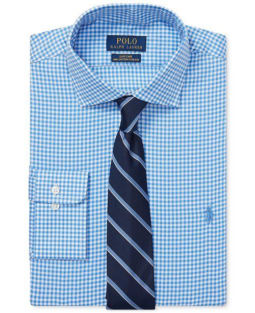 Polo Ralph Lauren Men's Gingham Cotton Dress Shirt