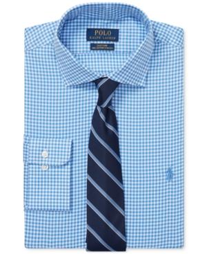 Polo Ralph Lauren Dresses MEN'S GINGHAM COTTON DRESS SHIRT
