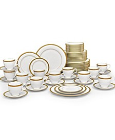Charlotta Gold 60-PC Dinnerware Set, Service for 12