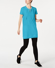 Ideology Lace-Up Tunic, Created for Macy's