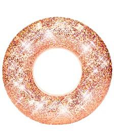 "Pool Candy Glitter Pool Tube 48"" - Rose Gold Glitter"